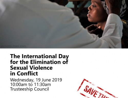 International Day for the Elimination of Sexual Violence in Conflict, 19 June 2019