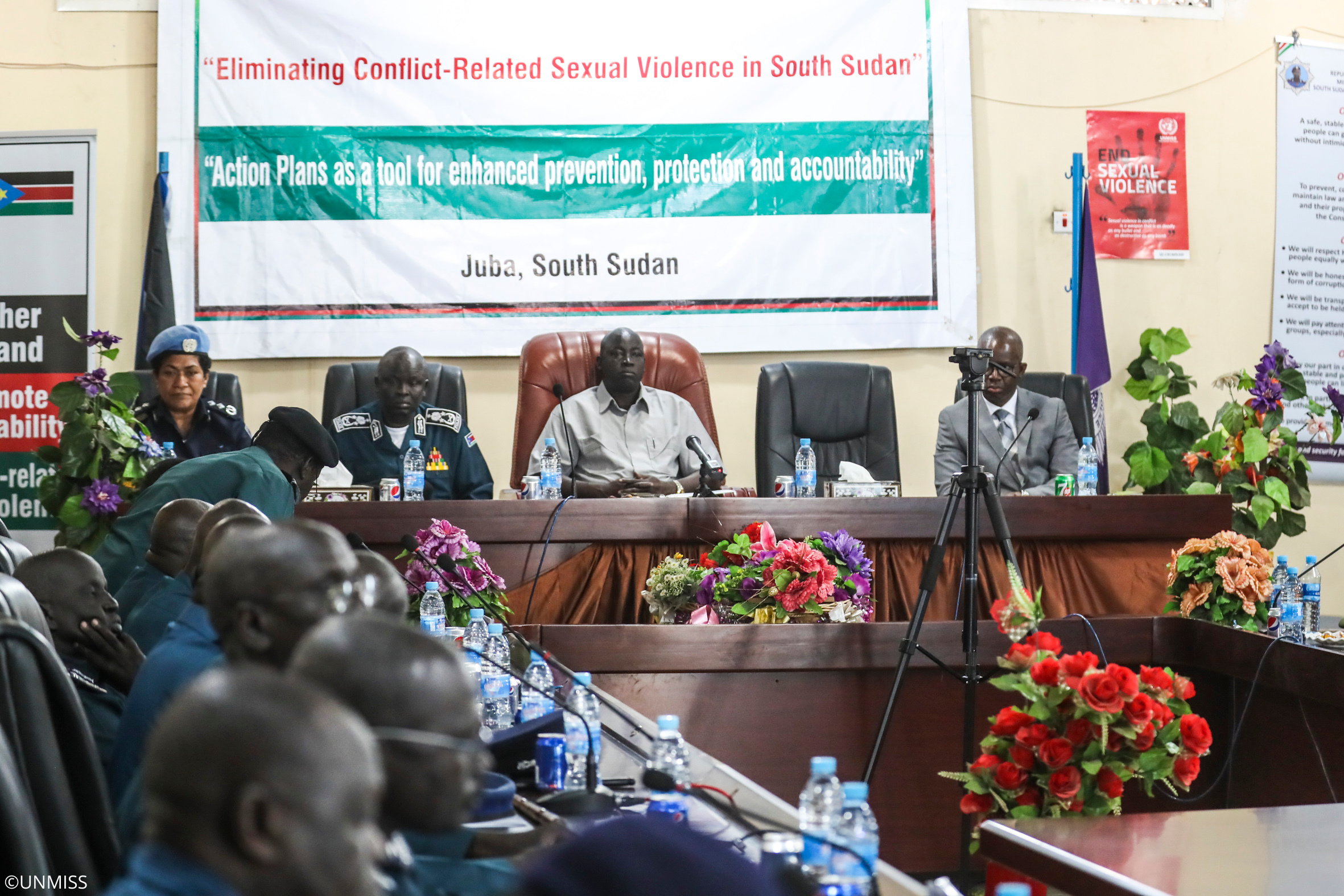 The South Sudan National Police Service Action Plan on addressing conflict-related sexual violence has been launched on 19 November 2019 in Juba