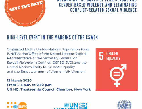 Save the date to CSW64 High-Level Event – 12 March 2020, UN HQ, Trusteeship Council Chamber, New York.