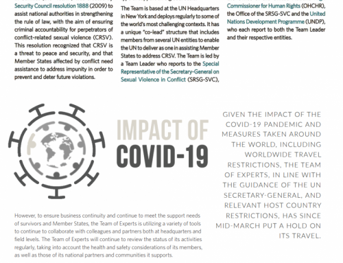 United Nations Team of Experts Newsletter Impact of COVID-19