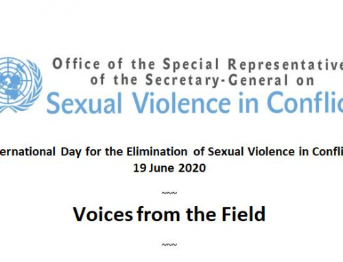 """Voices from the Field"" at the International Day for the Elimination of Sexual Violence in Conflict"