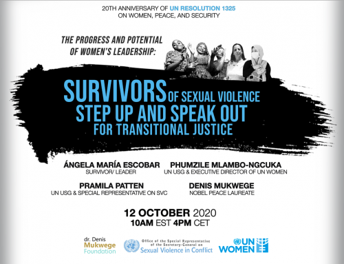 Invitation: Survivors of Sexual Violence Step Up and Speak Out for Transitional Justice