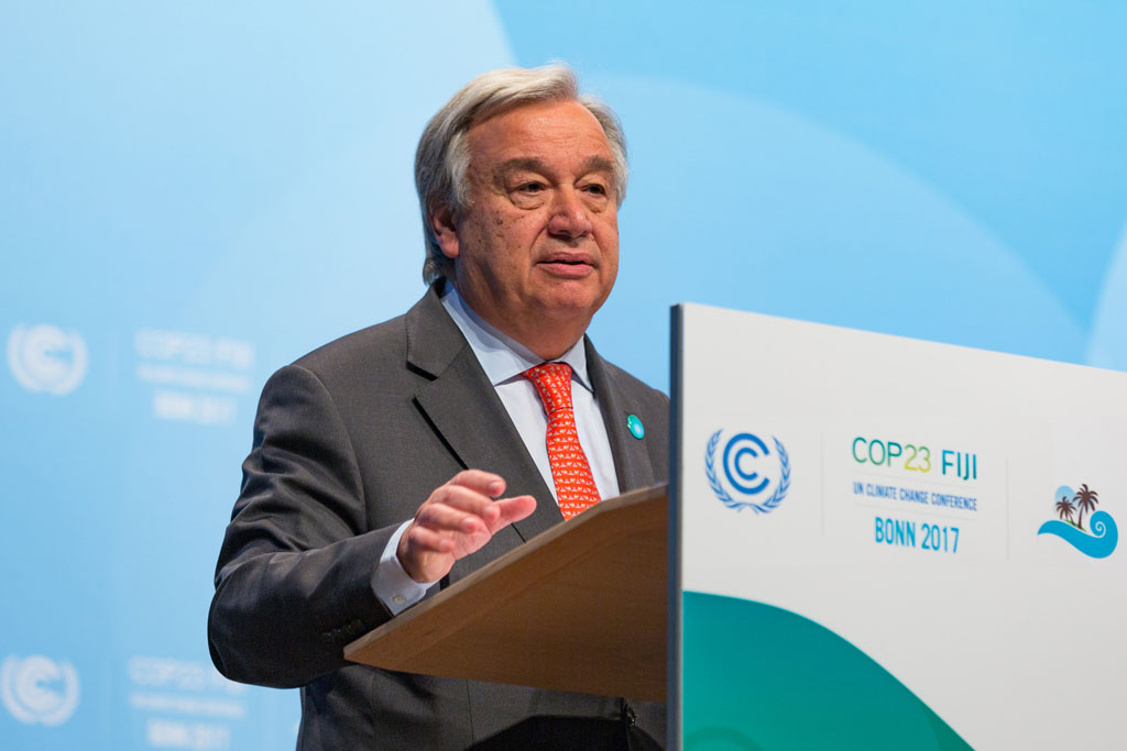 Secretary-General António Guterres addresses the United Nations Climate Conference (COP23) in Bonn, Germany. Photo: UNFCCC