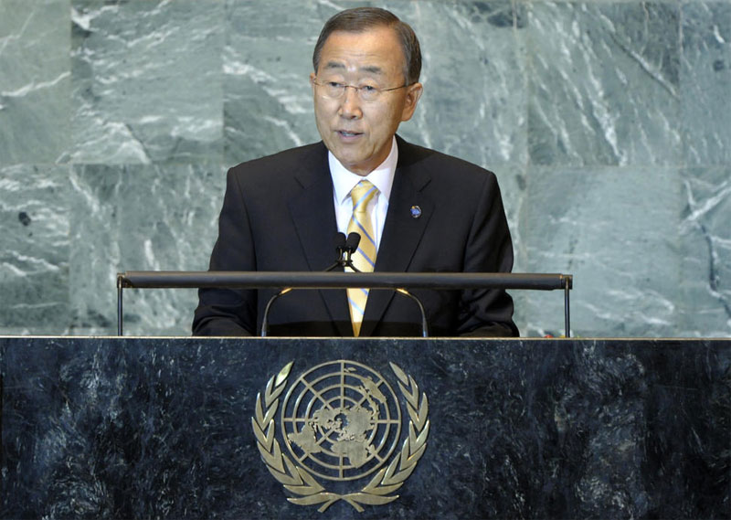 Secretary-General Ban Ki-moon addresses high-level debate of the 66th General Assembly Session, 21 Sept '11