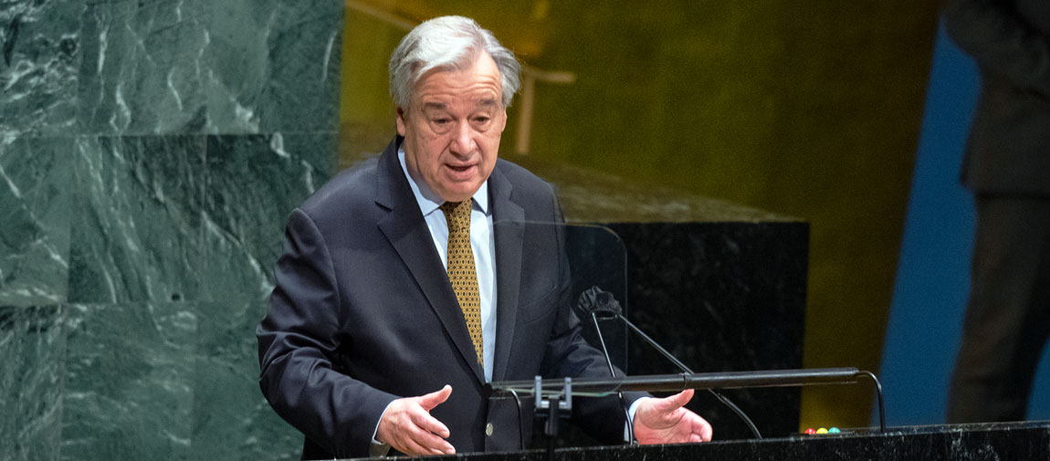 Secretary-General António Guterres addresses the opening of the sixty-fifth session of the Commission on the Status of Women (CSW65).  UN Photo/Eskinder Debebe