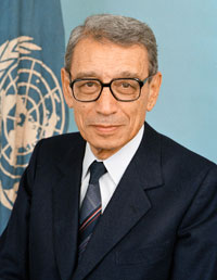 portrait of former Secretary-General Boutros Boutros-Ghali