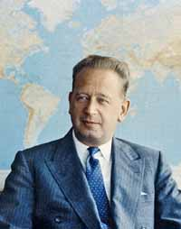 portrait of former Secretary-General Dag Hammarskjöld