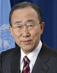 portrait of former Secretary-General Ban Ki-moon
