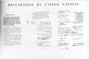 Declaration by United Nations issued in Washington, DC, on 01 January 1942