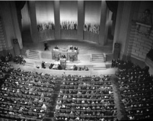 United Nations Charter Conference in San Francisco, California, USA, 26 June 1945.