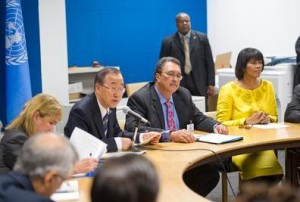 The Secretary-General meets CARICOM Group in 2012
