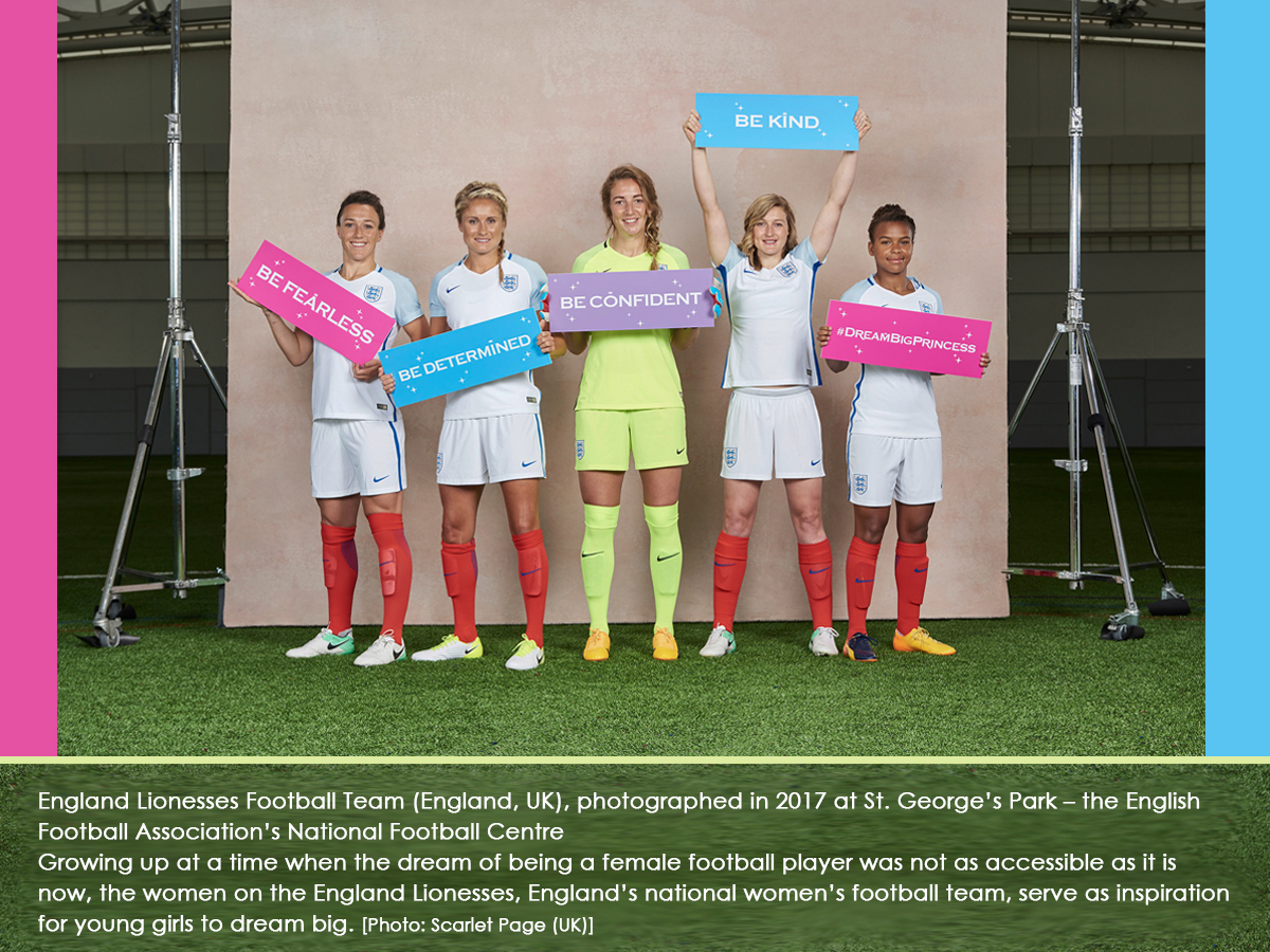 England Lionesses Football Team (England, UK), photographed in 2017 at St. George's Park – the English Football Association's National Football Centre