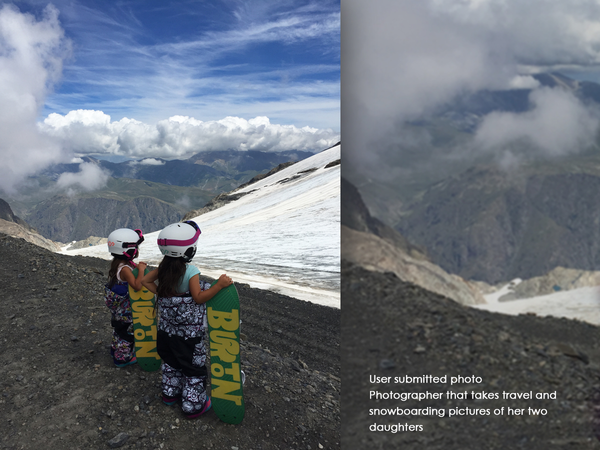 Photographer that takes travel and snowboarding pictures of her two daughters