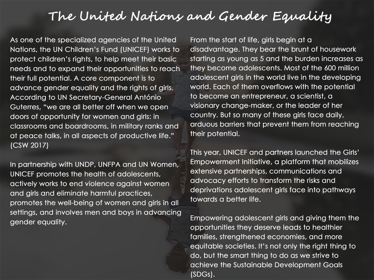 The United Nations and Gender Equality