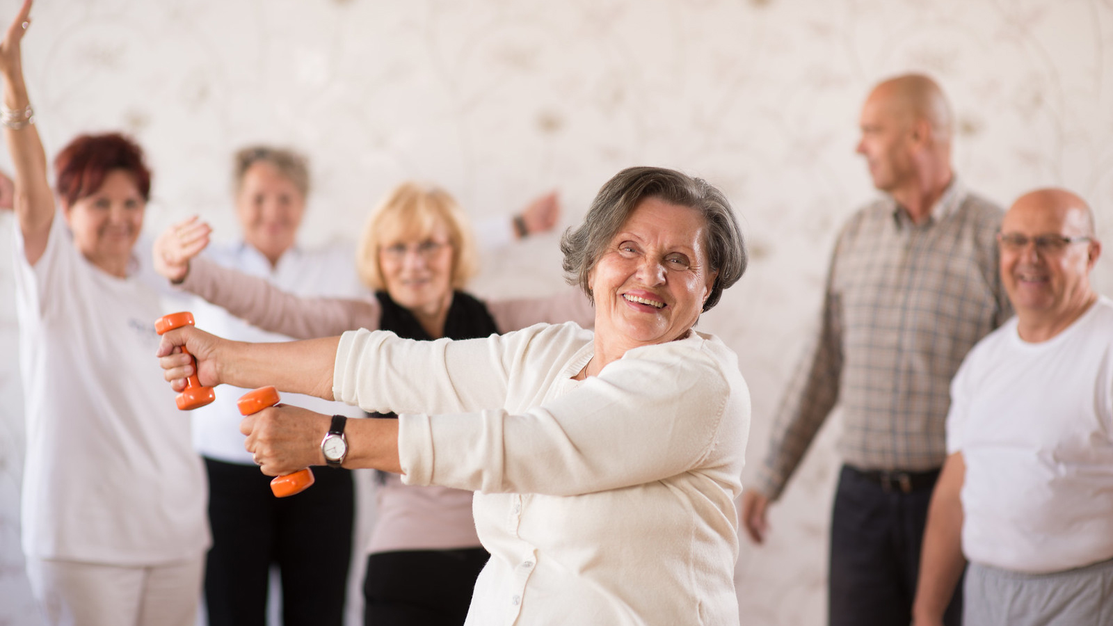 Older people exercising in Bosnia and Herzegovina.