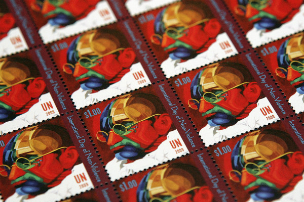 International Day of Non-Violence: UN Stamp