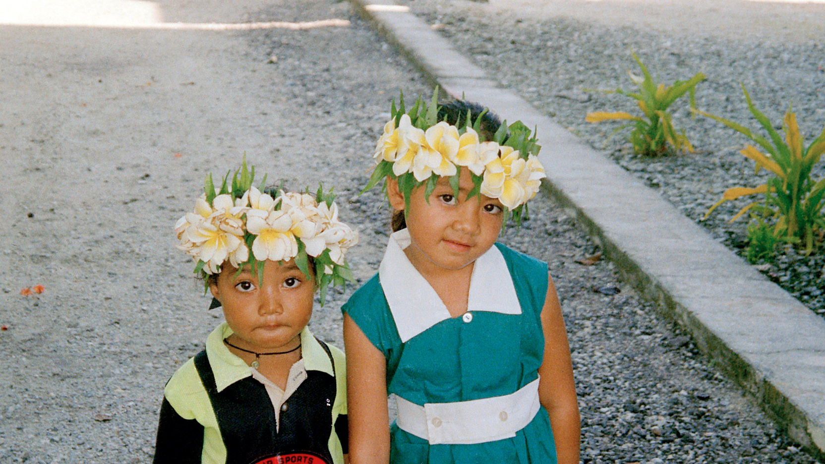 Two children in Tokelau