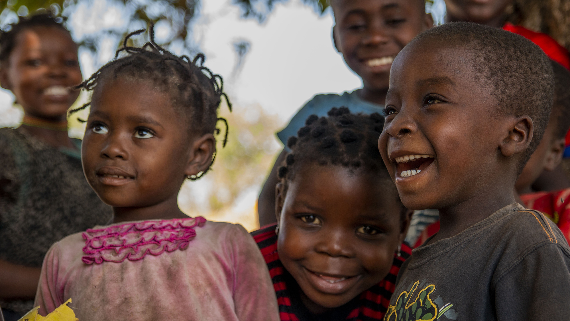 A group of children in Mozambique.