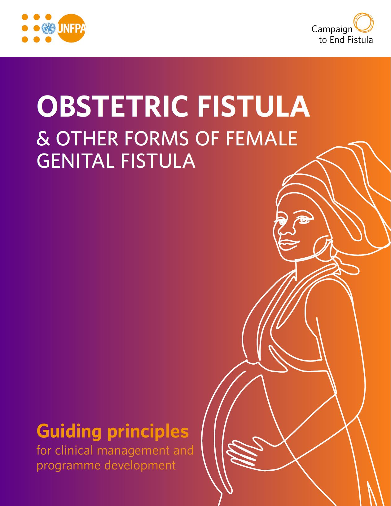 Cover of the UNFPA publication title: Obstetric Fistula & other forms of female genital fistula
