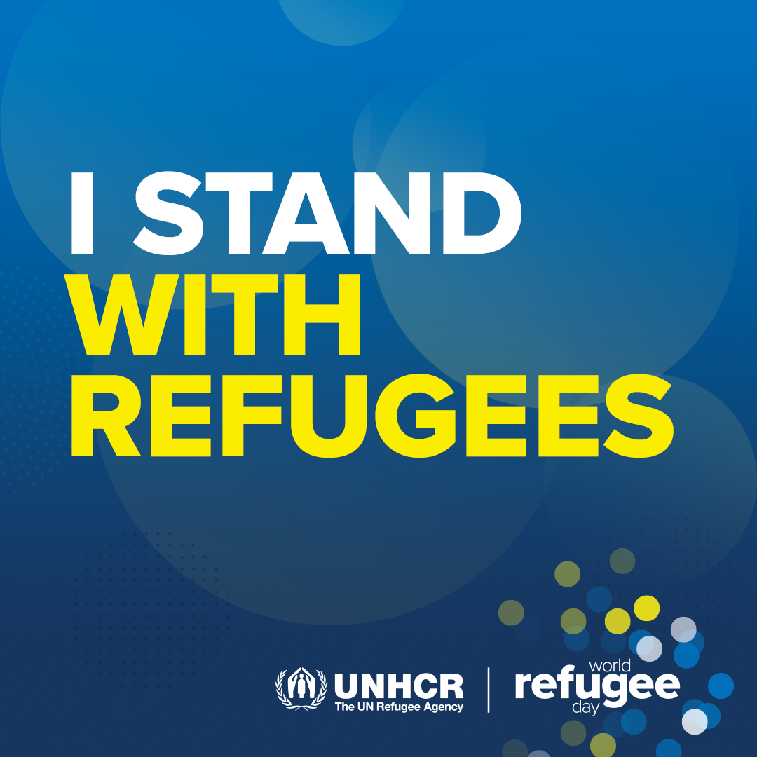 WRD 2021 poster that reads: I stand with refugees