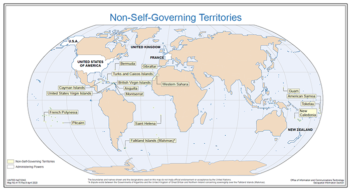 map of non-self-governing territories