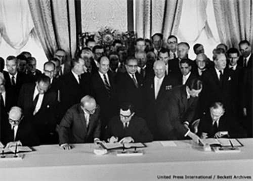 Signing of the Partial Test Ban Treaty, 5 August 1963. Photo: CTBTO