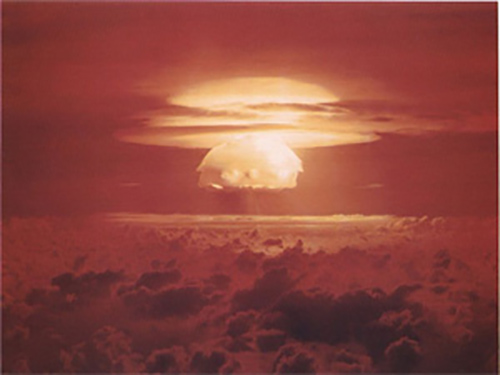 The Castle Bravo test created the worst radiological disaster in the United States' testing history. Bikini Atoll, Marshall Islands, 1 March 1954. Photo: CTBTO