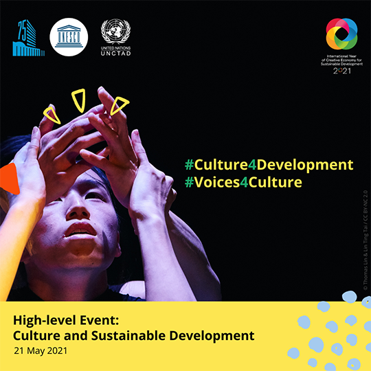 Poster for the event: Culture for sustainable development