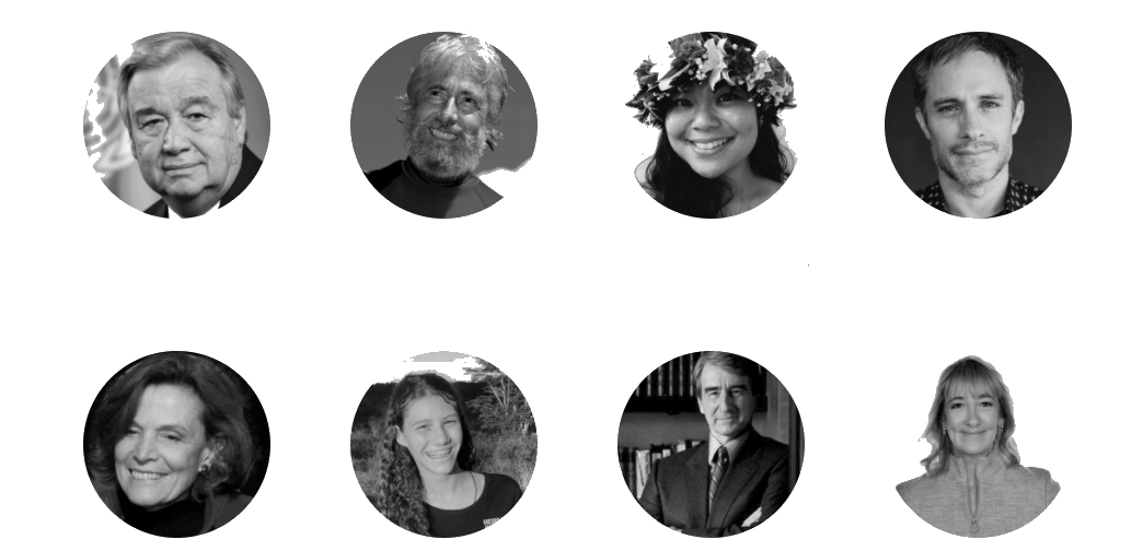 Portrait of speakers for the UN event for World Oceans Day