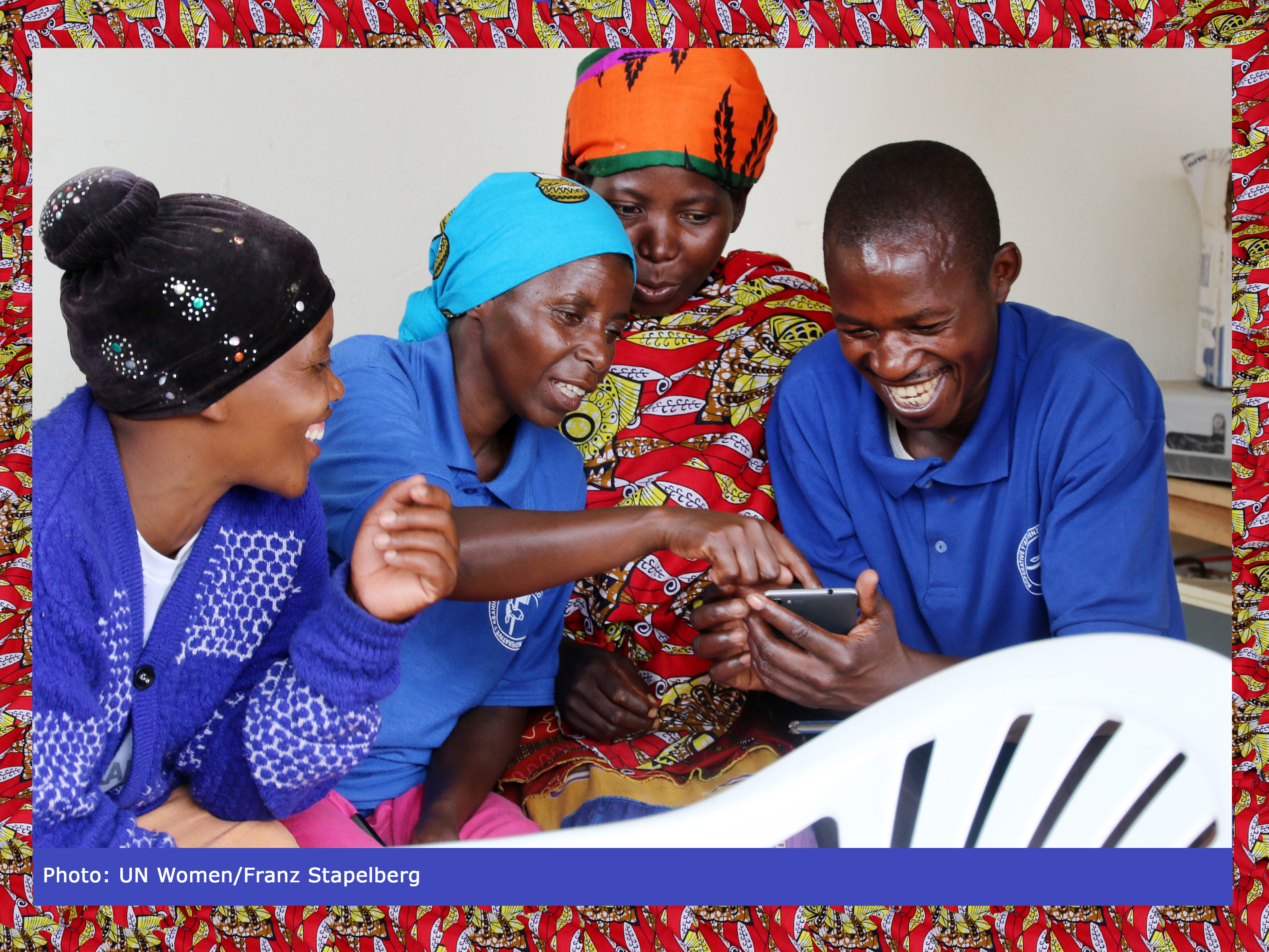 Women farmers learning to use new tool and technology