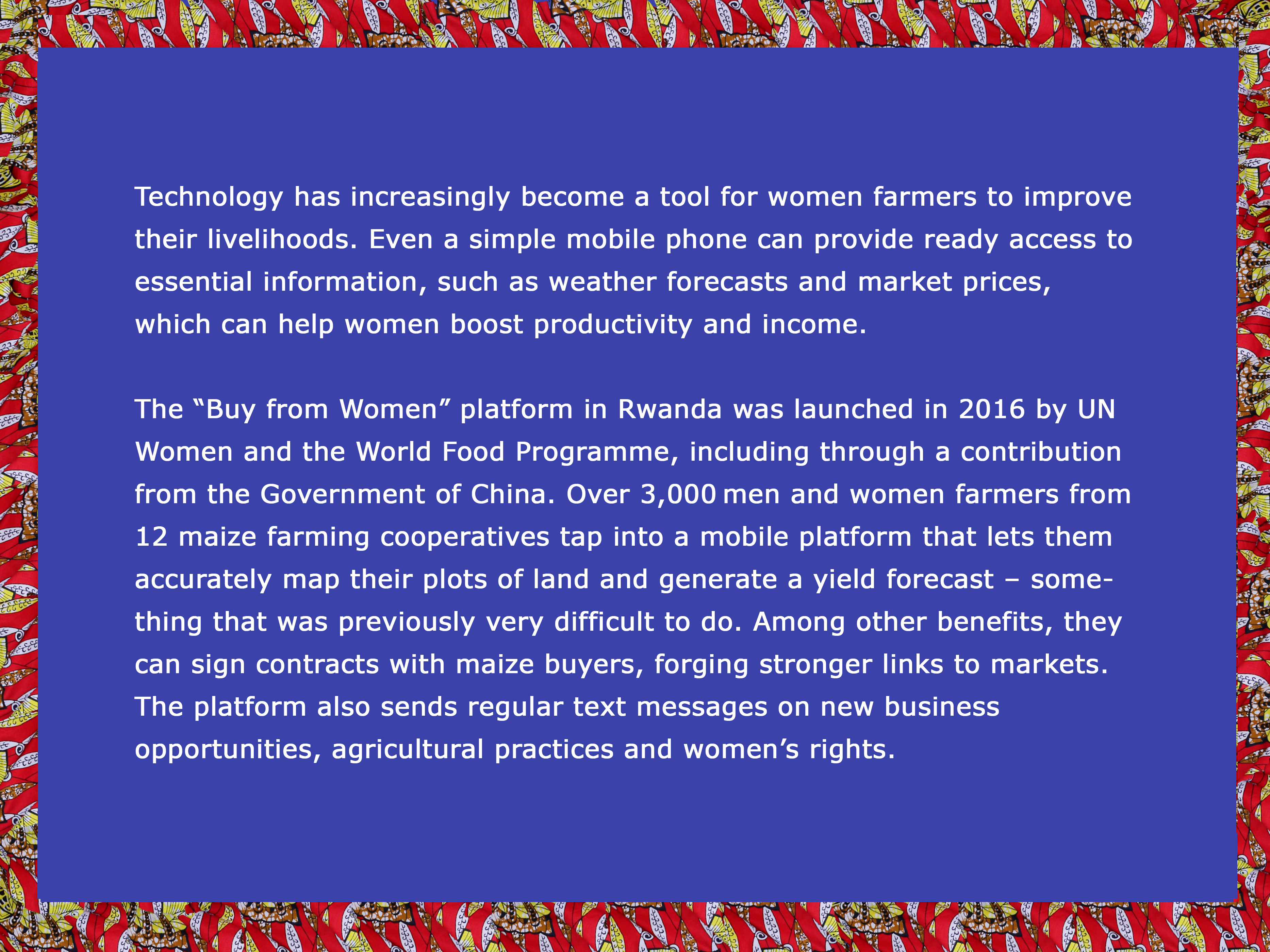 Technology has increasingly become a tool for women farmers to improve their livelihoods.