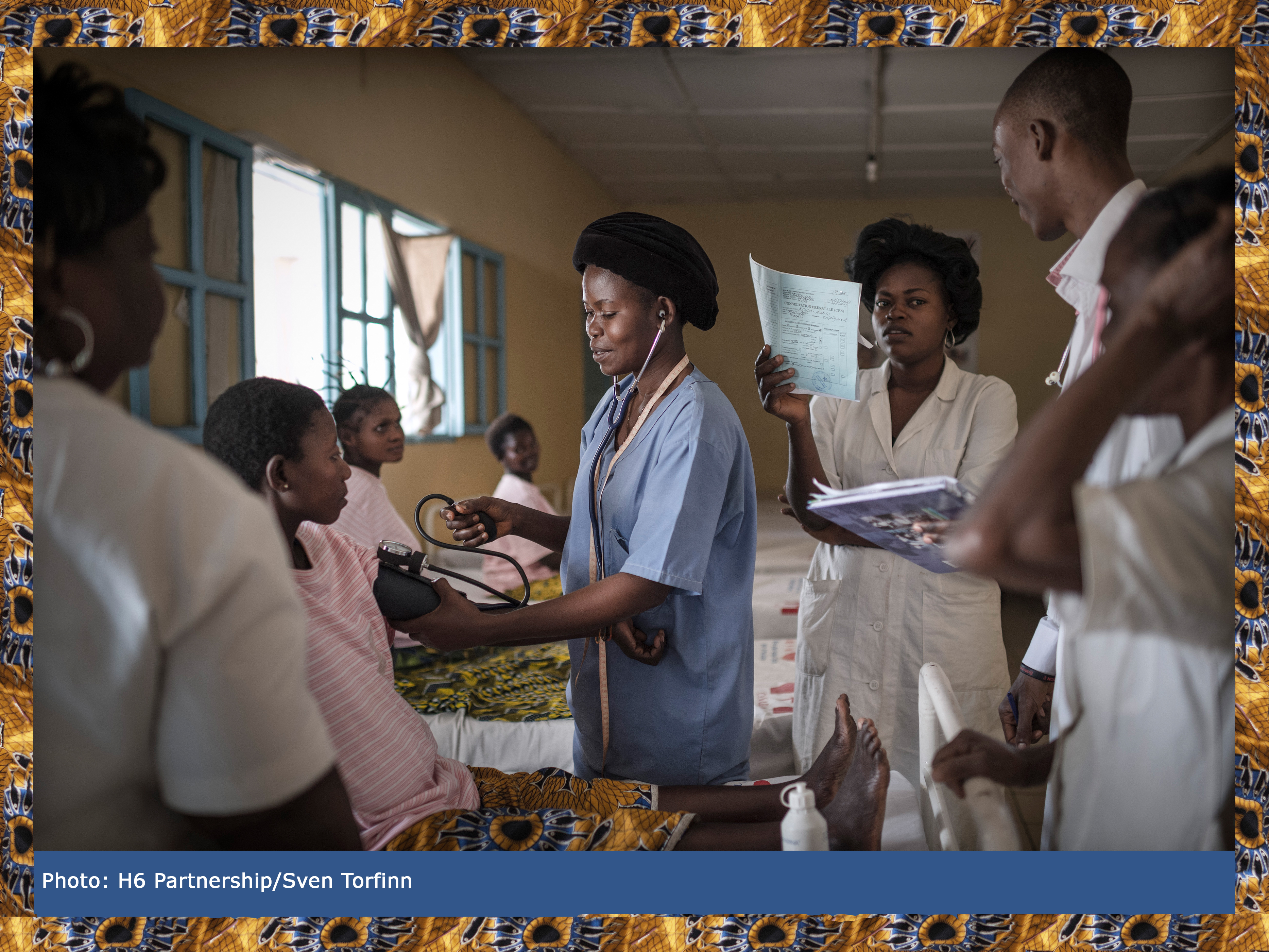 Women in a hospital in the Democratic Republic of the Congo