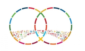 Logo related to South-South Cooperation and SDGs