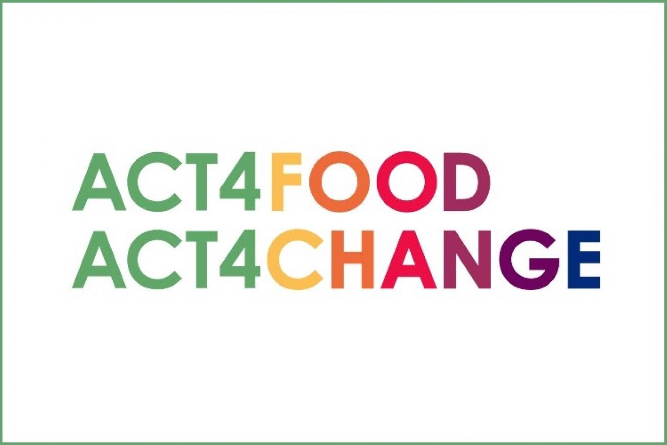 Act for food Act for change logo