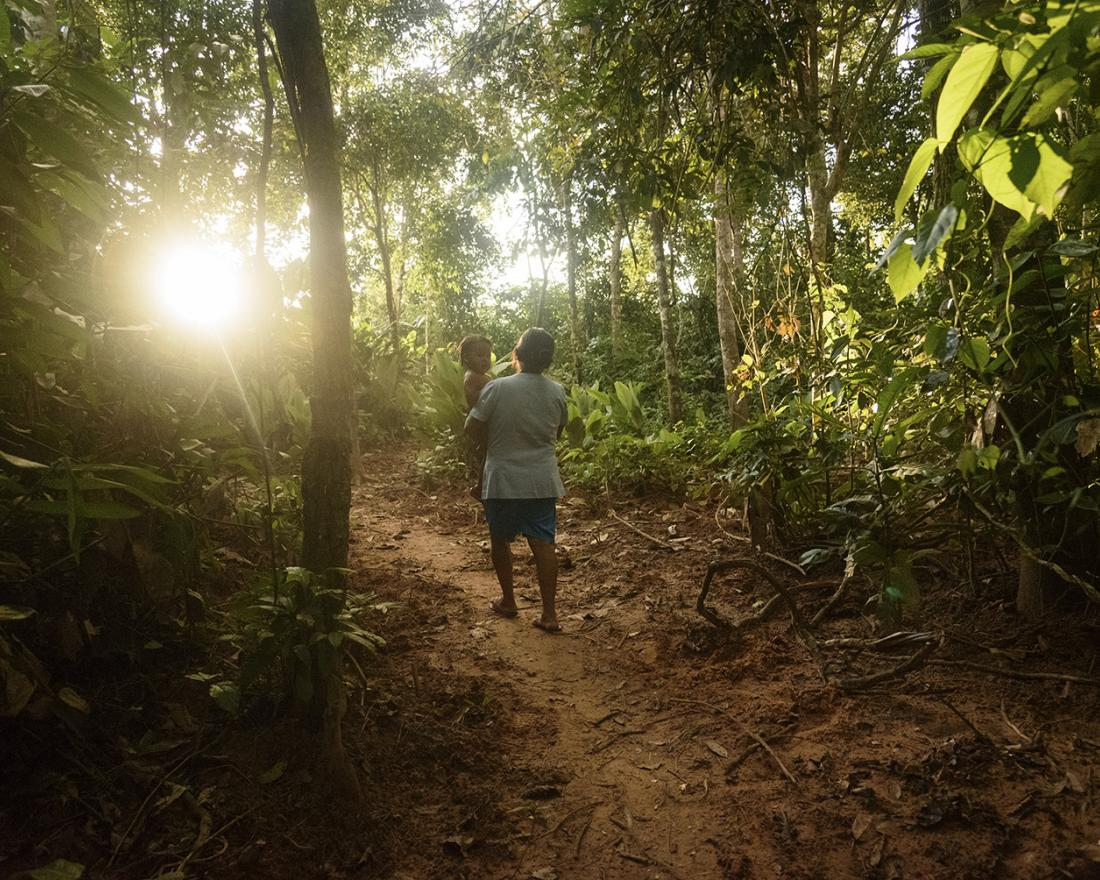 Dilma Montero Guallani, 59, is a volunteer in the remote community of Pekín, in the Bolivian Amazon, where she provides early malaria diagnosis and treatment.