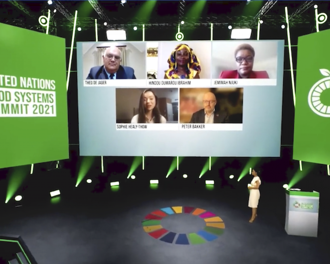 The UN Food Systems Summit live stage on 23 September 2021