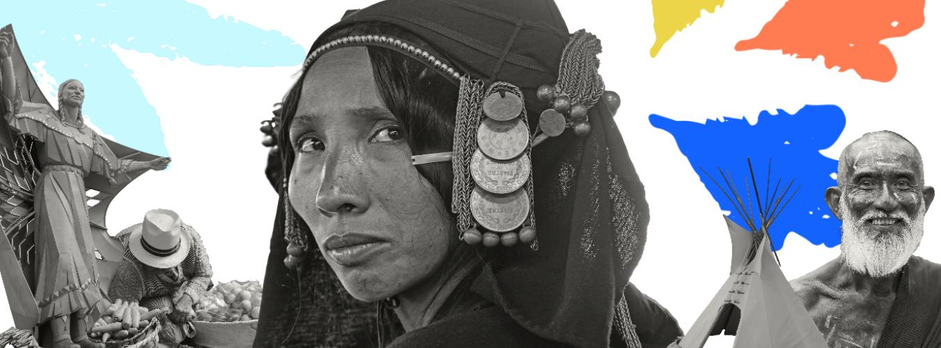 Photo collage of different indigenous peoples