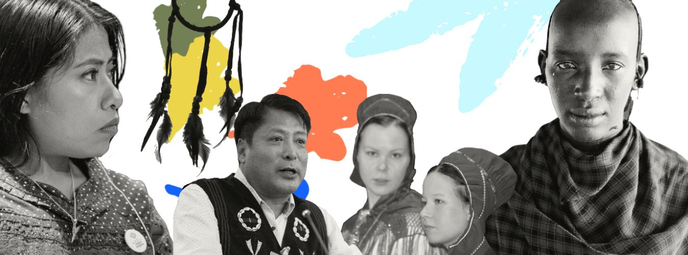 Photo collage of different indigenous people