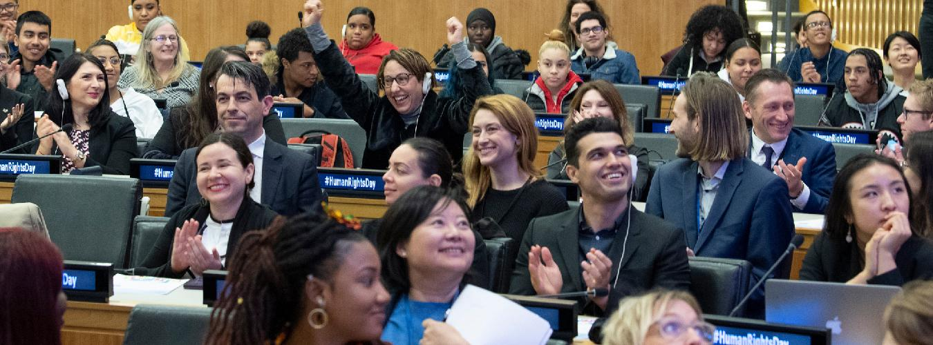 youth participating in event at the UN