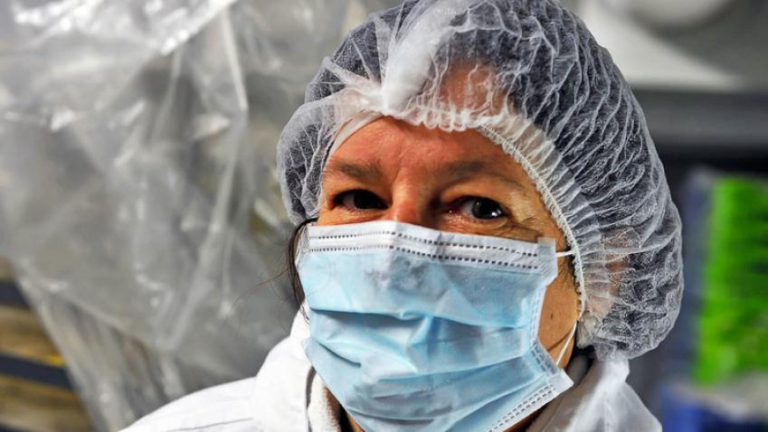 medical worker with PPE