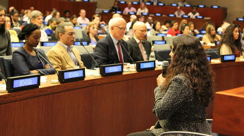"""Experts of emotional intelligence speak at the """"Unlocking Your Emotions to Achieve the SDGs"""" conference hosted by UNAI."""