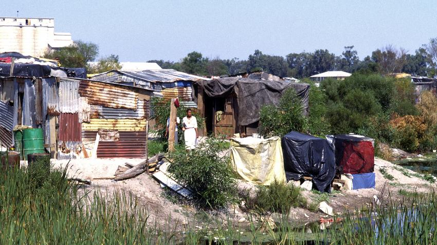Shanty town at Crossroads