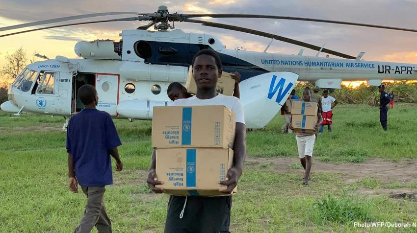 Aviation is crucial to the undertaking of the World Food Programme's humanitarian mission. Source: WFP/Deborah Nguyen