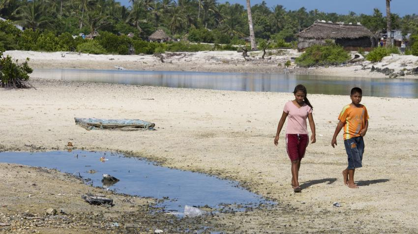 Island Nation of Kiribati Affected by Climate Change.