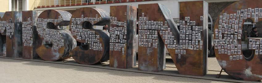 """""""Missing"""", a memorial monument by Goran Stojčetović, dedicated to the victims and missing persons of the Kosovo and Metohija armed conflict (1998-1999), Gračanica, Kosovo and Metohija, Serbia. Image provided by author."""