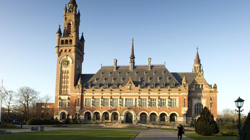 A view of the Peace Palace, seat of the International Court of Justice (ICJ), The Hague, Netherlands. UN Photo/ICJ/Capital Photos/Gerald van Daalen