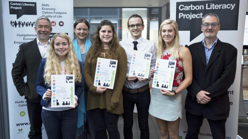First cohort of student trainers at Manchester Metropolitan University (Photo: The Carbon Literacy Project