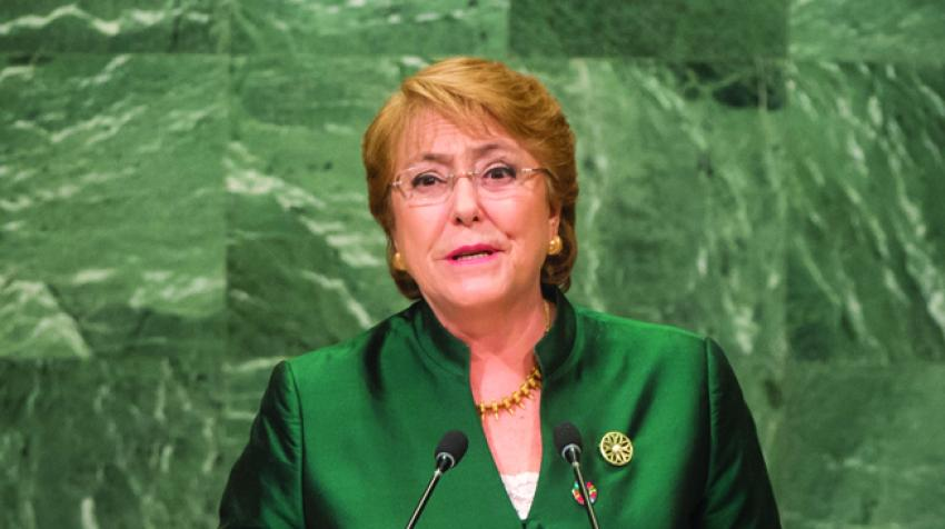 Michelle Bachelet, President Of Chile, Addresses the Seventy-First Session of the General Assembly. 21 September 2016. ©UN Photo/Cia Pak