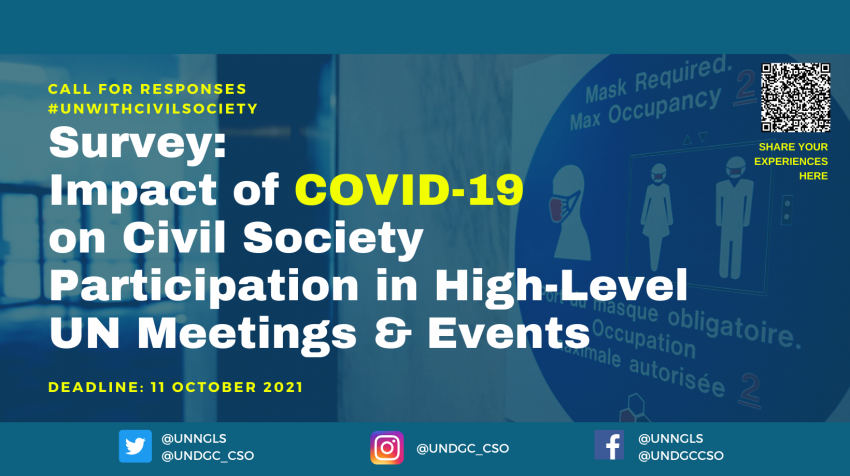 Survey on COVID-19 Impact on CSO Participation in the High-level UN Meetings & Events