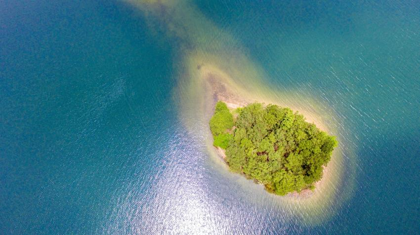 A small island in the sea. 6 March 2020. Photo by Loeng Lig on Unsplash